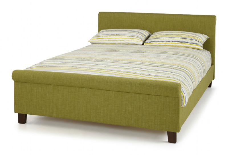 SERENE FURNISHINGS Hazel Fabric Upholstered Bed Frame in Olive Green from £199