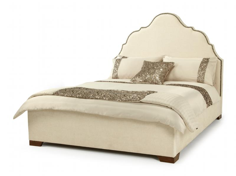 Serene Furnishings Kimberley Fabric Upholstered Bed Frame in Pearl