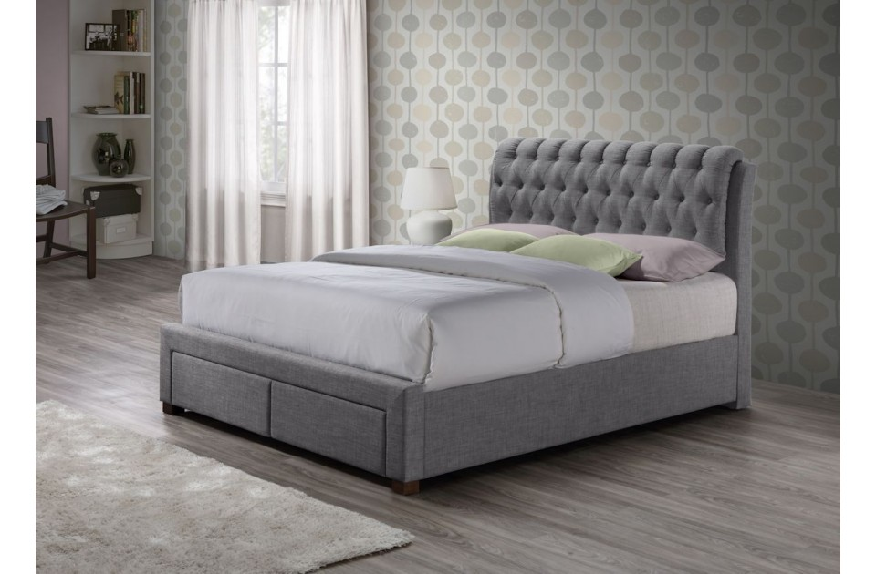 Birlea Valentino 4FT6 Double 2 Drawer Storage Bed Frame in Grey